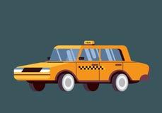 Taxista Call con el fondo del servicio del smartphone Foto de archivo libre de regalías