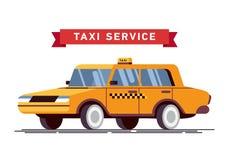Taxista Call con el fondo del servicio del smartphone Fotografía de archivo