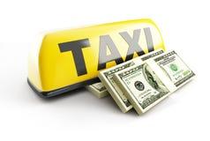 Taxista del sueldo Imágenes de archivo libres de regalías