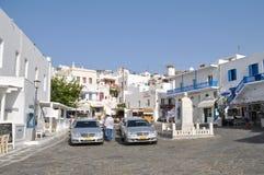Taxistand Mykonos, Grecja fotografia royalty free