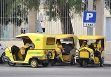 Taxiställning Fotografering för Bildbyråer