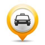 Taxisymbol Royaltyfri Foto