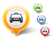 Taxisymbol Arkivfoton