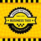 Taxisymbol med rutig bakgrund - 03 Arkivfoto