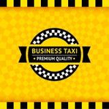 Taxisymbol mit kariertem Hintergrund - 01 lizenzfreie abbildung