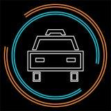 Taxisymbol, taxisymbolsvektor, taxi också vektor för coreldrawillustration stock illustrationer