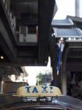 Taxitaxi på silom Arkivfoto