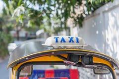Taxitecken, Thailand Arkivbild