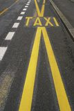 Taxiteken Stock Foto's