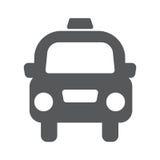 Taxivektorikone Stockbild