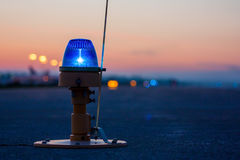 Taxiway lights. Side row lights stock photos