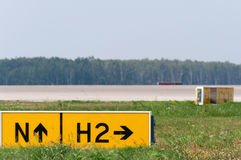 Taxiway sign Stock Images