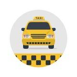 Taxizeichen-Vektorillustration Lizenzfreie Stockfotografie