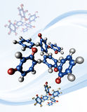 taxol молекул снадобья химиотерапии Стоковое Изображение RF