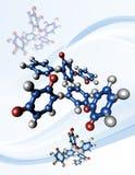 Taxol - chemotherapy drug molecules. Taxol chemotherapy drug. Molecular model of the chemotherapy drug Taxol (generic name paclitaxel royalty free illustration