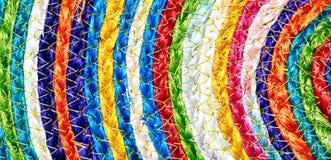 Taxtures y fondo tejidos coloridos de la manta de las lanas del sisal Fotografía de archivo