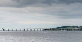 Tay Bridge Dundee Scotland Fotografie Stock Libere da Diritti