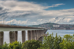 Tay Bridge Dundee Scotland. The Tay Road Bridge serving Dundee and the East Coast of Scotland Stock Image