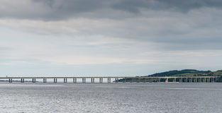 Tay Bridge Dundee Scotland. The Tay Road Bridge serving Dundee and the East Coast of Scotland Royalty Free Stock Photos