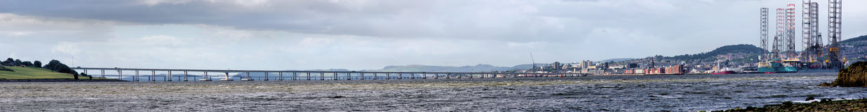 Tay Bridge Panorama Royalty Free Stock Image