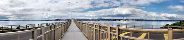 Tay Bridge Pedestrian Panorama Royalty Free Stock Photos