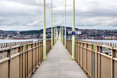 Tay Bridge Pedestrian Walkway Stock Image