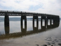 Tay Rail Bridge, Dundee. Tay Rail Bridge reflected in the River Tay, Dundee Royalty Free Stock Photos