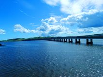 Tay Road Bridge Royaltyfri Foto