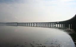 Tay Schienen-Brücke, Dundee Stockbilder