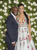 Taye Diggs und Amanza Smith Brown Stockbilder