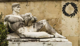 Taygetos monument i Thermopylae, Grekland Royaltyfri Foto