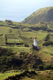 Tayid lighthouse on the hill of Batan Island, Batanes, Philippines Royalty Free Stock Photo