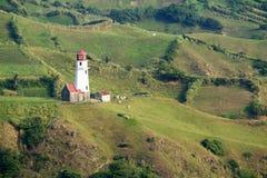 Tayid lighthouse on the hill of Batan Island, Batanes, Philippines - Series 3 Stock Photos