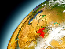Tayikistán de la órbita de Earth modelo Fotos de archivo