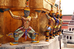 Tayland Bangkok royal palace sculpture of ancient Stock Photo