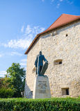Taylor Bastion and Baba Novac statue in Cluj-Napoca Royalty Free Stock Images