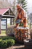 Taylor British Columbia, Canada. Gold Pan Chain Saw carving in Taylor, British Columbia, Canada on the Alaska Highway royalty free stock photography