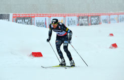 Taylor Fletcher competes in the FIS Cross-Country  World Cup Stock Photo
