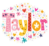 Taylor girls name Stock Images
