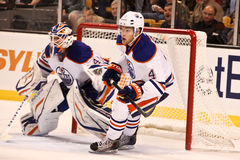 Taylor Hall Edmonton Oilers. Edmonton Oilers young superstar Taylor Hall #4 Royalty Free Stock Photos