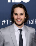 "Taylor Kitsch. Actor Taylor Kitsch arrives on the red carpet for the New York premiere of ""The Normal Heart, "" at the Ziegfeld Theatre in New York City on Royalty Free Stock Photos"