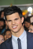 Taylor Lautner. At the world premiere of his new movie 'The Twilight Saga: New Moon' at Mann Village & Bruin Theatres, Westwood. November 16, 2009  Los Angeles Royalty Free Stock Photos