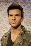 Taylor lautner. In the famous wax museum Madame tussauds london, england Royalty Free Stock Photo