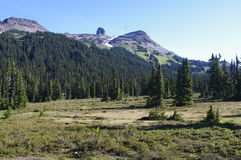 Taylor Meadows. Black Tusk seen from Taylor Meadows of Garibaldi Provincial Park in British Columbia Stock Image