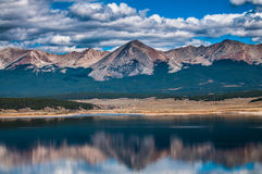 Taylor Park Colorado. Grizzly Mountain Reflection in the water Royalty Free Stock Image