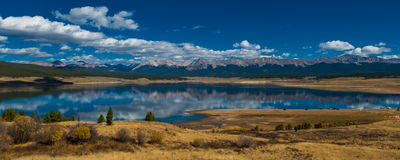 Taylor Park Colorado. Taylor Park Reservoir Colorado Rocky Mountains Jenkins mountain Grizzly peak Illinois mountain Stock Photo
