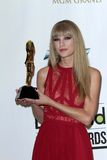 Taylor rapide à la musique 2012 de panneau-réclame attribue la salle de presse, Mgm Grand, Las Vegas, le nanovolt 05-20-12 Photo libre de droits