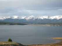 Taylor Reservoir. And the West Elk Mountains Royalty Free Stock Photography