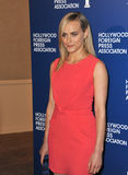 Taylor Schilling. LOS ANGELES, CA - AUGUST 13, 2013: Taylor Schilling, star of Orange is the New Black, at the Hollywood Foreign Press Association's 2013 Annual Royalty Free Stock Image