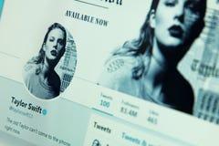 Taylor Swift kvittrandekonto royaltyfri bild